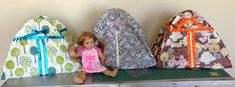 Make your own American Girl doll camping tent! Great for summer campouts.