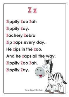 Exclusive BUNDLE with this page. Take it away! * limited time* CLICK. ABC Songs – Letter Z   #cognitive #development #early #learning #rhyme #for #memorization