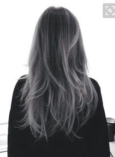 Cabello Orne, Pelos Grises, Cabello Gris Azulado, Ojos, Sugerencias De Belleza, Peinado, Cabello Plata, Invierno, Arte