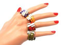 Exclusive Ring in Leather and Zamak * handmade ring for women * Leather Ring * red ring * Ring for her * Gift for her * Cozy Detailz #handmade #men