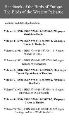 List of nine volumes, bold #frillilibrary 5 volumes in my possession and 4 to find.