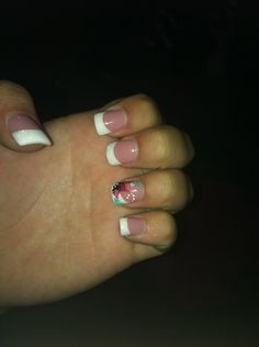 French tips with summer design