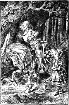 Alice and the White Knight - my favorite illustration from Through The Looking Glass