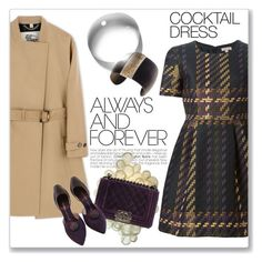 """Cocktail Dress"" by andrejae ❤ liked on Polyvore featuring Burberry, P.A.R.O.S.H., Chanel, Hissia and cocktaildress"