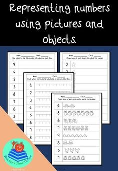 Representing numbers using pictures and objects