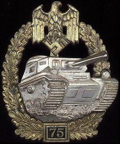 Panzerkampfabzeichen 75 (Panzer Assault Badge).