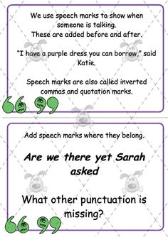 Quotation Marks and Commas | Student, Teacher pay teachers and ...