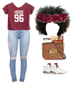 """""""HOOD 96"""" by queen31204 ❤ liked on Polyvore featuring NIKE and H&M"""