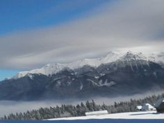 Uitați ce peisaj frumos de iarna