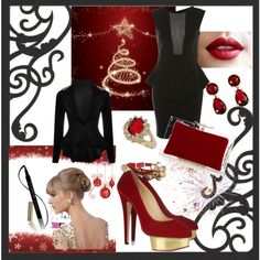Dressed to party by snowbride on Polyvore featuring Miss Selfridge, Charlotte Olympia, Dorothy Perkins, Kate Spade and L'Oréal Paris