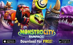 MonstroCity: Rampage Hack, Cheats, Tips and Guide - Rouen Gamers Gaming Banner, Game Ui, Game Design, Android Apps, Cheating, Hacks, Tips, People, Pictures