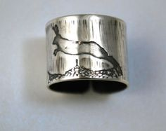 Silver hare ring silver rabbit ring silver bunny ring hare