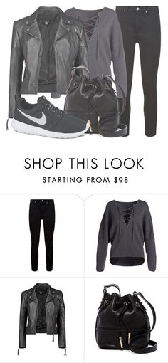 """""""Outfit #1527"""" by lauraandrade98 on Polyvore featuring Paige Denim, Vince, Boohoo, French Connection and NIKE"""