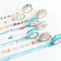 15mm*8m Klebstoff Masking Aufkleber Washi Tape Scrapbooking Label Dekorative DIY