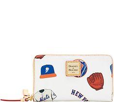 Dooney & Bourke MLB Mets Zip Around Phone Wristlet