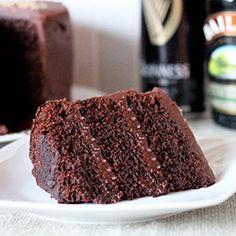 Chocolate Stout Cake with Baileys Irish Cream Chocolate Ganache | TasteSpotting