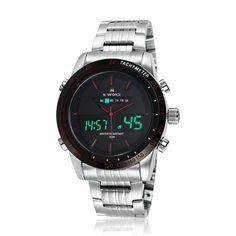 NAVIFORCE Watch Men Luxury Brand Stainless Steel Analog-Digital Led sports men watch waterproof quartz-watch relogio masculino