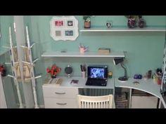 Faça você mesmo: Home Office para o quarto reutilizando madeira de móvel velho - YouTube