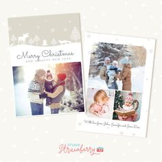 Christmas photo cards 5 x 7 Christmas card by StudioStrawberry