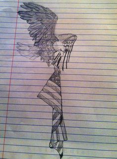 Cool tattoo idea!?!! American Pride Tattoo Design. Soaring Bald Eagle carrying American Flag. (Created by Allie Kersey)