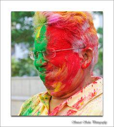 Photo taken in Holi festival, India