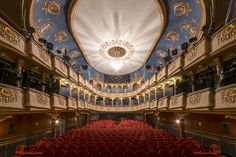 """My """"Auditorium"""" series has been built around a theme which always been among the most fascinating ones for me: symmetry.Similarly to my previous photo series, I've continued to look for places which have been built to embrace larger crowds, and are rarel… Theater Architecture, Architecture Art, Photography Awards, Art Photography, Acrylic Photo Prints, Quality Photo Prints, Photo Series, Auditorium, Unique Image"""