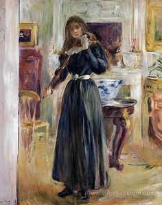 Julie Playing a Violin - Berthe Morisot