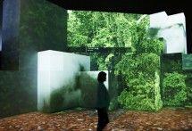 Nature of Orbi Yokohama multisensory experience. Projection map.
