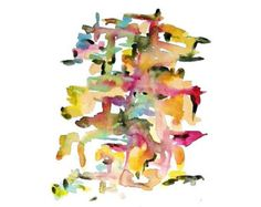 Abstract Watercolor Art Print: Bloom