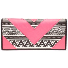 Billabong Tribal wallet in pink, AU$19.99 from City Beach, Australia. Also comes in blue.