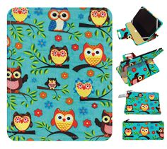 owl Kindle Case, Kindle Cover, Kindle Touch Cover, Kindle Fire Cover, Kindle Paperwhite Cover, Nook Cover, iPad Mini Cover Owls On Branches by superpowerscases on Etsy https://www.etsy.com/listing/188483604/owl-kindle-case-kindle-cover-kindle