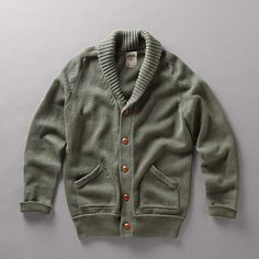 Shawl Sweater $ 98    In soft cotton, our varsity inspired shawl neck sweater is a must-have for spring.