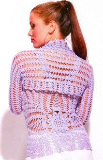 Conjunto de bolero e blusa, com padrão abacaxi