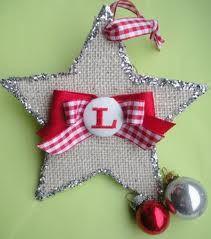 Burlap Star Ornament
