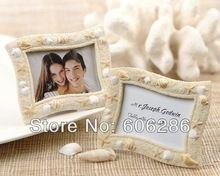 Commercio all'ingrosso 100 pz/lotto tema della spiaggia bella sea shell photo frame favori di nozze regali per gli ospiti(China (Mainland))