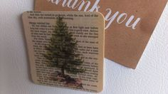 Old book pages, beautiful graphics and a printer come together to make lovely magnets to give or keep for yourself.