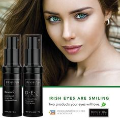 Irish Eyes Are Smiling... 🍀 Ask Us About These 2 Products Your Eyes Will Love, from Revision Skincare: 1️⃣ Revox 7 Serum for Addressing Expression Lines 2️⃣ DEJ Eye Cream for Tighter and Brighter Skin. ☎️ Call (337) 235-6886 or stop by the office to purchase!