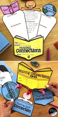 Reading Comprehension Crafts: Making Connections Activity for Reading Response Making Connections Activities, Reading Response, Reading Nook, Text To Self Connection, Text To World, Text To Text Connections, Reading Comprehension Strategies, Third Grade Reading, Common Core Reading