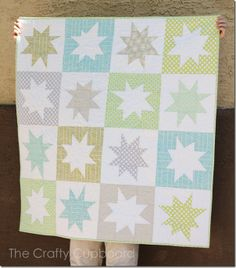 My Wonky Star Quilt. Made by the awesome Melanie over at the Crafty Cupboard!  My baby boy is sure lucky!!