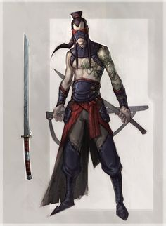 Character Portraits (monsternomicon: The kensei is a man who...)