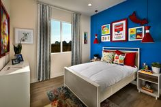 #BoysRoom #Primary Furniture, Alcove, Floor Plans, New Homes, Home Decor, Bed, Bedroom