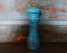 Turquoise Distressed Salt Shaker and Pepper by turquoiserollerset, $12.00