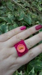 Winter Knitted ring, with button