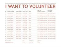 Volunteer Registation And Sign Up Sheet Template Organizational Chart Office Templates Microsoft