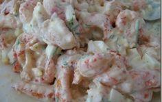 Изумительно вкусный салат из морепродуктов и ананаса!