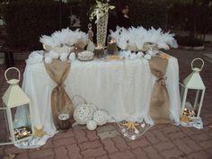 diakosmisi me linatsa kai asteries Wedding Crafts, Wedding Decorations, Table Decorations, Wedding Invitation Templates, Wedding Invitations, Garden Wedding, Dream Wedding, Baptism Favors, Kirchen