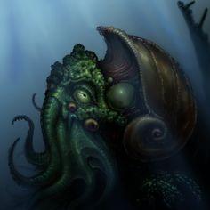 Cthulhu by garmr.deviantart.com on @DeviantArt Lovecraft Cthulhu, Black Books, Deviantart, Illustration, Ipad Case, Link, Inspired, Create, Illustrations