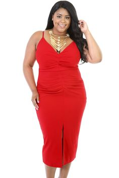 Red Mini Quenches Stretchable Dress https://www.modeshe.com