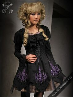 Purple Cathedral dress SUITABLE FOR THESE FASHION STYLES: Burlesque & Theater Gothic, Victorian & Vampire Lolita & Dolly kei