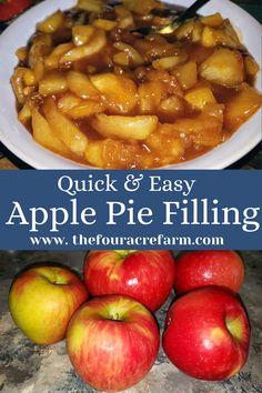 Quick Apple Dessert, Apple Pie Recipe Easy, Homemade Apple Pie Filling, Easy Pie Recipes, Apple Dessert Recipes, Fried Apples Recipe Easy, Crockpot Apple Pie, Easy Apple Desserts, Apple Recipes Easy Quick
